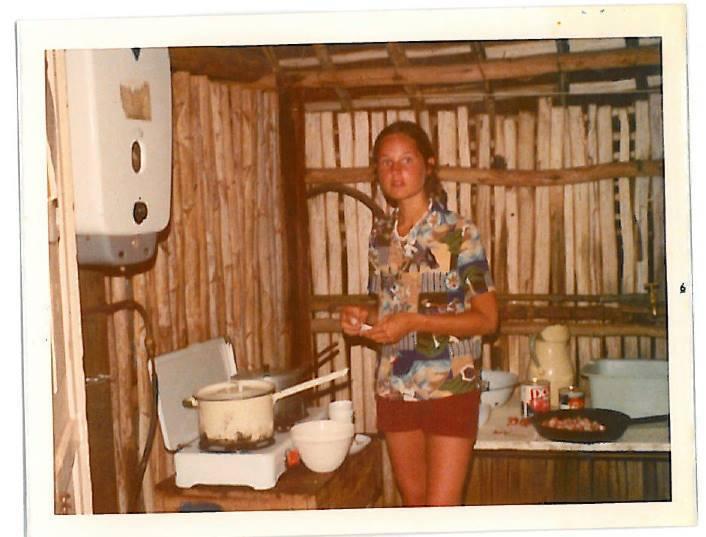 Lorin cooking vegan food in Africa